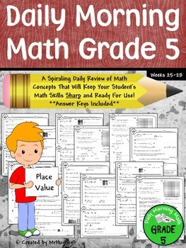 Daily Morning Math Grade 5 {Weeks 25-28}