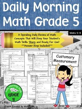 Daily Morning Math Grade 5 {Weeks 5-8}