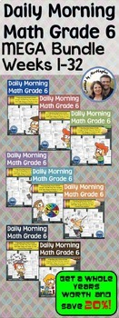 Daily Morning Math Grade 6 MEGA Bundle {All 32 Weeks}