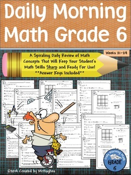 Daily Morning Math Grade 6 {Weeks 21-24}