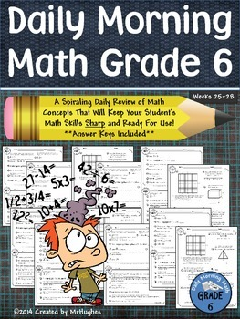 Daily Morning Math Grade 6 {Weeks 25-28}