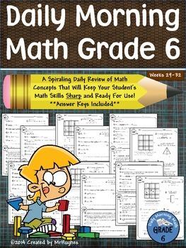 Daily Morning Math Grade 6 {Weeks 29-32}