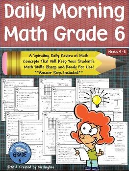 Daily Morning Math Grade 6 {Weeks 5-8}