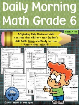 Daily Morning Math Grade 6 {Weeks 9-12}