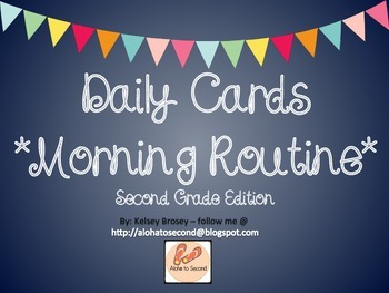 Daily Morning Routine Cards Second Grade Edition