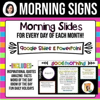 Daily Morning Slides Bundle - The Entire School Year!