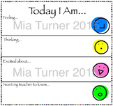 Daily Morning Student Assesment - Thoughts and Feelings