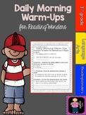 """Reading Wonders Daily Morning Warm-ups """"Bundled"""" Units 1-6"""