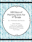 180 Days of Daily Morning Work 4th grade Printable!