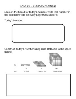 Daily Morning Work Binder Sheets