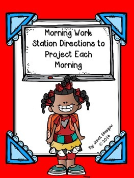 Daily Morning Work Directions and Station Activities