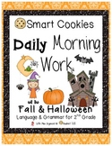 Daily Morning Work Fall & Halloween Smart Cookies!