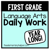 Language Arts Daily Work for First Grade