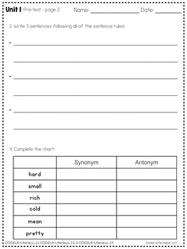 Language Arts Daily Work for Second Grade