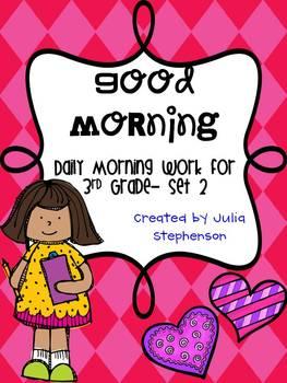 Daily Morning Work- Set 2