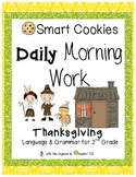 Daily Morning Work Thanksgiving Smart Cookies!