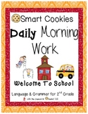 Daily Morning Work Welcome To School Smart Cookies!