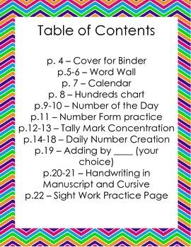 Daily Morning Work Write and Wipe Binder