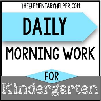 Year Long Morning Work for Kindergarten