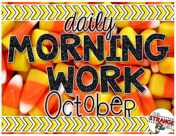 No Prep Morning Work - October