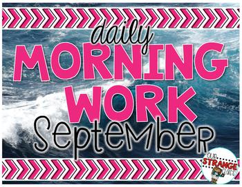 No Prep Morning Work - September