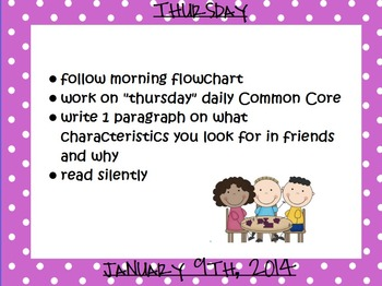Daily Morning flipchart