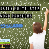 Multi-Step Story Problems for April