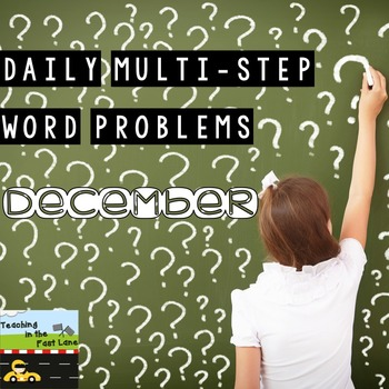 Multi-Step Story Problems for December