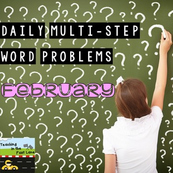 Multi-Step Story Problems for February