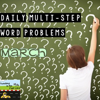 Multi-Step Story Problems for March