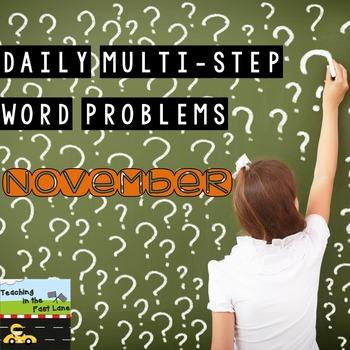 Multi-Step Story Problems for November