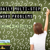 Multi-Step Story Problems for October
