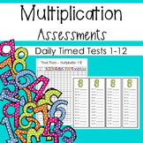 Daily Multiplication Assessments - Timed Tests