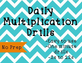 Daily Multiplication Drill Sheets