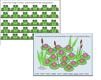 Daily Multiplication Packets for March Week 4 Frog and Turtle Themes