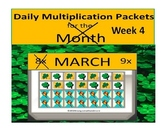Daily Multiplication Packets for March Week 4 Frog and Tur