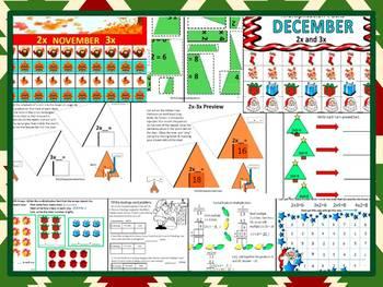 Daily Multiplication Packets for November & December