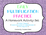 Daily Multiplication Practice Homework Activity