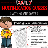 UPDATED--Daily Multiplication Quizzes for Fact Mastery-With No Daily Copies!!