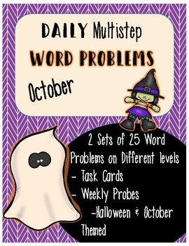 Daily Multistep Word Problems: October