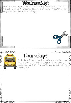 Daily Multistep Word Problems: September