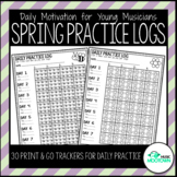 Daily Music Practice Charts: Fun Spring Graphical Trackers