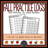 Daily Music Practice Charts: Fun fall graphical trackers f
