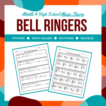Daily Music Theory Bell Ringer/Exit Slip Worksheets for Middle or High School