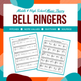 Daily Music Theory Bell Ringer/Exit Slip Worksheets for Mi