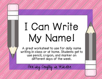 Daily Name Writing Practice