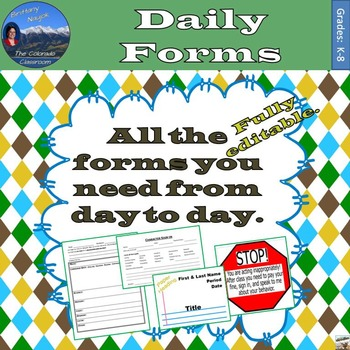 Daily Necessities Forms - The Basic Day to Day Forms for R