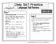 Daily (New) SAT Language Test Practice (Week 1)