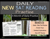 Daily (New) SAT Reading Practice Bundle (Month 1)