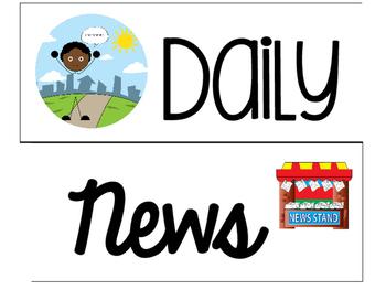 Daily News Bulletin Board Visuals